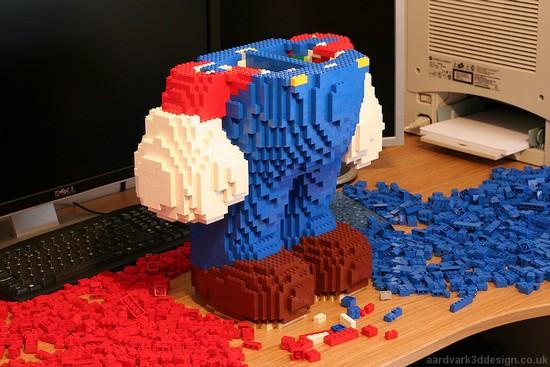 super mario lego under construction