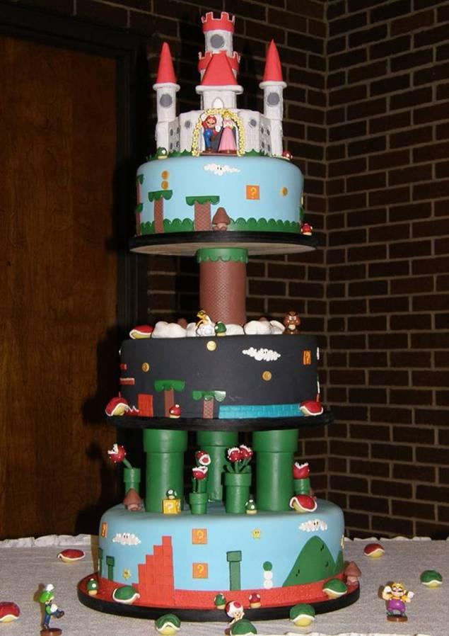 3 story mario cake