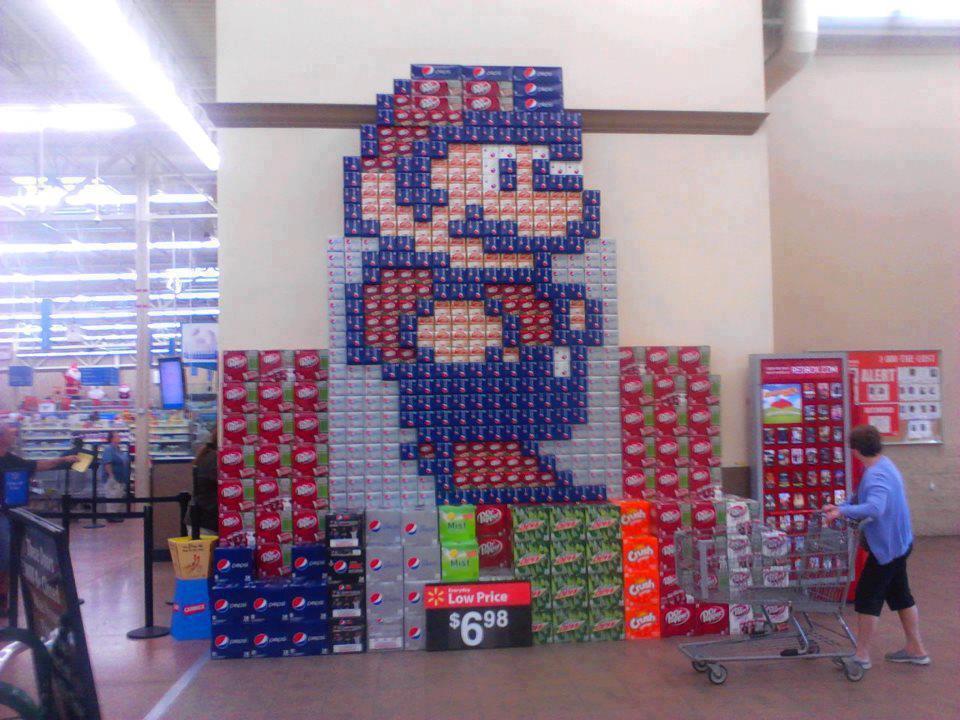 mario soda wall