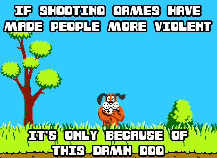 violent video games duck hunt dog