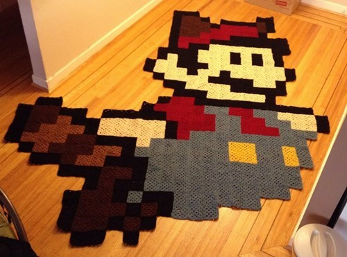 Raccoon rug super mario bros 3