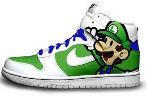 Paper luigi sneakers