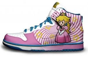 Paper peach sneakers