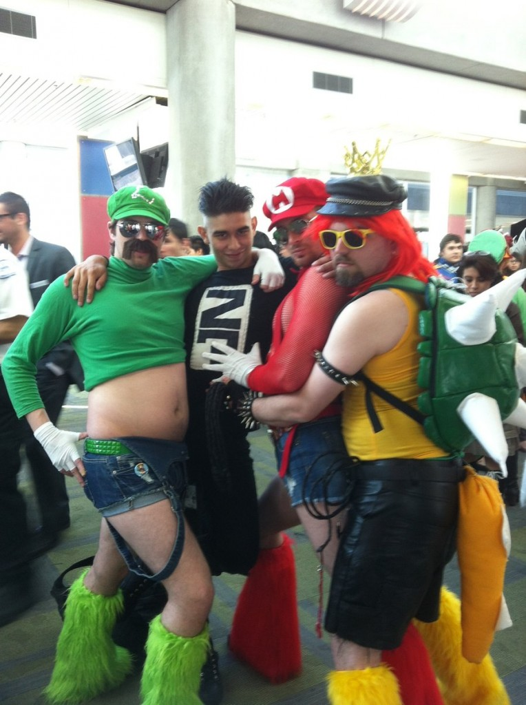 crazy mario luigi bowser costume