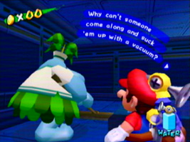 super mario sunshine luigis mansion shoutout