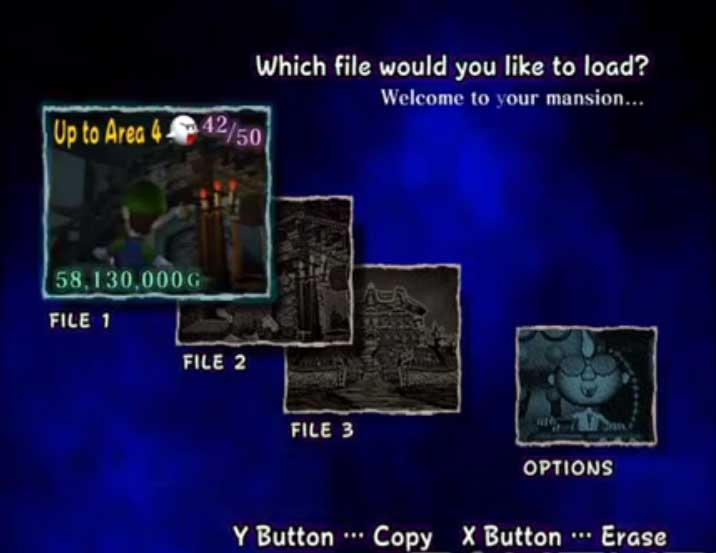 lm file select screen welcome to your mansion