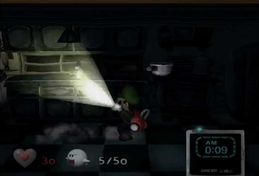 luigi's mansion removed timer