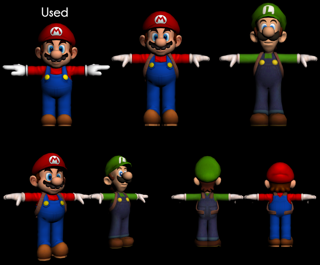 luigis mansion unused mario model