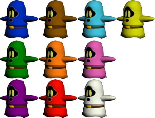 shy guy no mask variants